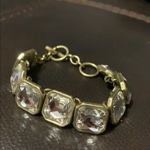 Chloe+Isabel RetroGlam Square-Cut Crystal Bracelet